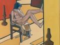 Interno giallo con figura e luci-2000-olio-80x80 cm..jpg