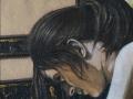 Orecchio di ragazza-2003-tecnica mista su tela-80 x 60 cm..jpg