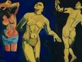 Le bagnanti (omaggio a Andreé Derain)-2001-olio su tela-48 x 80 cm.