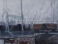 Ruggine nella nebbia-2011-tecnica mista su tela-50 x 70 cm..jpg