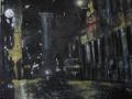 La notte della nostra città-2010-tecnica mista su tela-30 x 40 cm.